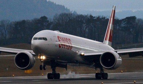 swiss boeing b777-300ER fly lufthavn