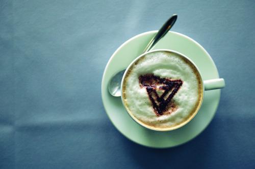 Kaffekop med Scandlines logo