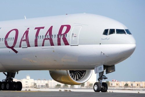 Qatar Airways Boeing 777 fly lufthavn