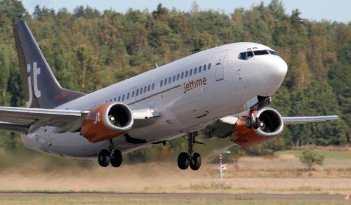 Jet Time Boeing 737 lufthavn