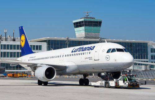 München lufthavn lufthansa fly