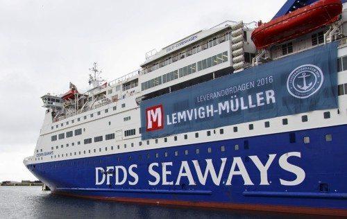 Crown Seaways i Aarhus Havn, da skibet i fire dage var flydende mødested for en fagmesse i såvel København som Aarhus.