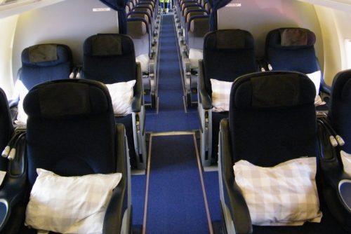SAS Privatair-fly, der med plads til 86 passagerer på business og economy class betjener den nye SAS-rute mellem København og Boston.