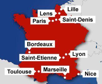 EM-slutrunden i fodbold afvikles i disse 10 franske byer – den beskyttes af 90.000 politifolk, soldater og private vagtværn.