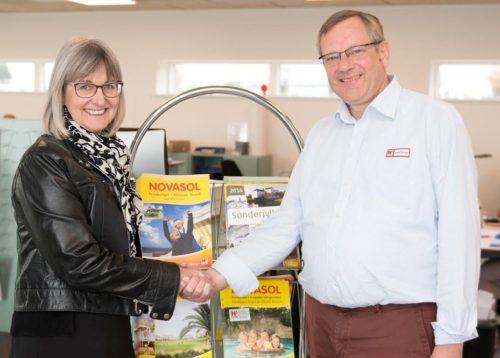 Alsie Express' adm. direktør, Lone Koch, og regionschef Mikael Larsen har udviklet tilbud til turister i Hovedstaden og Sønderjylland.