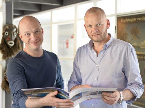 Martin Strobel, til venstre, med Mads Bygballe, koncerndirektør for Sunway Group.