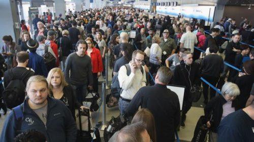 chicago lufthavn passagerer