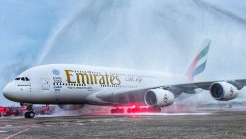 emirates airbus a380 Taipei fly