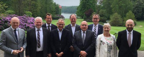 Horestas bestyrelse anno 2016, fra venstre Georg Sørensen, Hilding Hvid, Joachim Knudsen, Morten Hammerich, Allan Agerholm, Jens Zimmer Christensen, Lars Mouritzen, Sonja Dive-Dahl og Christoffer Knuth