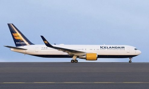 icelandair boeing 767 fly lufthavn