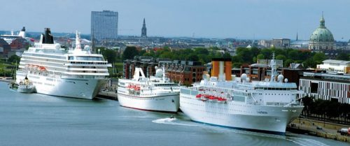 Krydstogtskibe i Københavns Havn – foto: Wonderful Copenhagen.