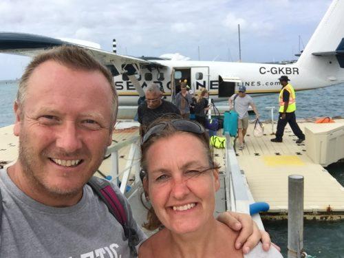 Fra stifteren af De Berejstes Klub, Ole Egholms, seneste rejse ses han her tidligere på året med sin unge kæreste, Inger Poulsen, i Caribien.