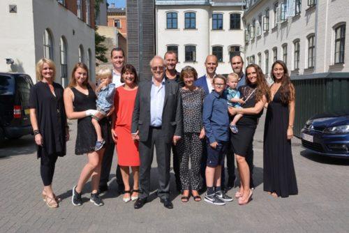 Villy Karup Rasmussen ved Nørrebro Bryghus med hele familien i flere generationer.