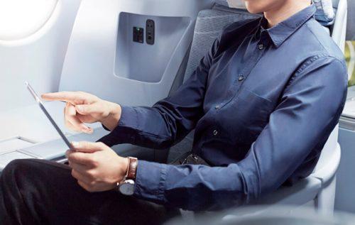 Finnair business passager ipad