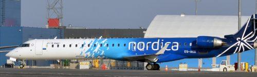 Nordica, Canadair CRJ-900ER fly lufthavn
