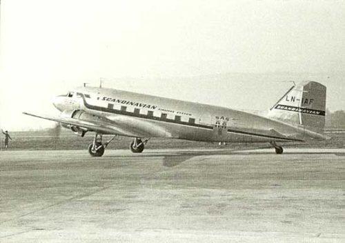 SAS DC-3 Fridtjof Viking i drift fra 1946 til 1957.