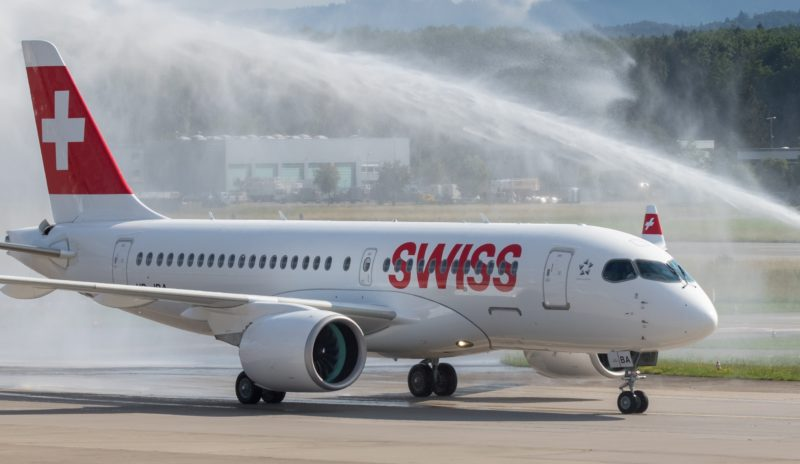 Swiss, Bombardier CS100 fly