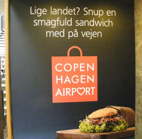 københavns lufthavn mad plakat