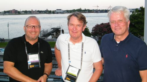 Minnesota har hvert år på IPW sammenkomst for den nordiske rejsebranche. Her er Jesper Ewald i midten med til venstre salgschef for Air France KLM, Jens Vestergaard, og adm. direktør i Danmarks Rejsebureau Forening, Lars Thykier.