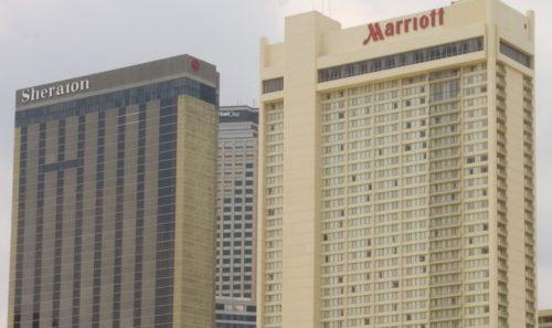 sheraton og marriott i New Orleans, usa, hotel