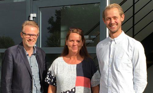 Klaus Boe Østergaard fra Unitas Rejser, til venstre, med de to nye kolleger, Conni Schlüter og Patrick Schlüter Jacobsen.