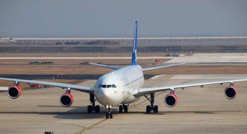 SAS Airbus A340 i Shanghai.