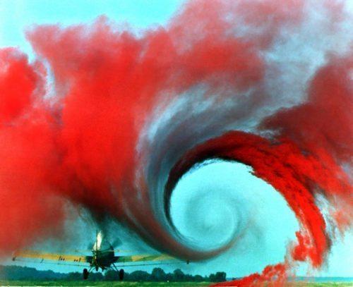 Foto fra NASA ved test af turbulens – i dette tilfælde ved landjorden.