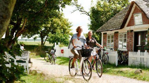 Cyklister på Fanø.