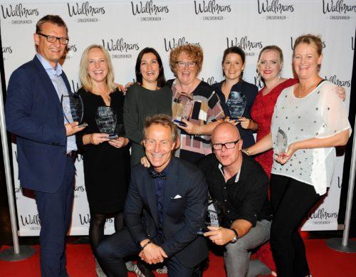 Vinderne af årets partnerpriser 2016 hos Wallmans i Cirkusbygningen.