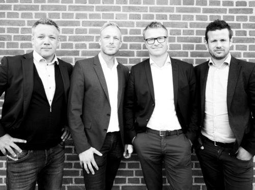 Partnerkredsen i Welcome Nordic tæller efter fusionen fra venstre Jannik Seifert, Michael Martil, Bo Mertins og Thomas Nielsen.