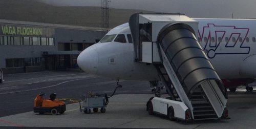 En Airbus A320 fra ungarske Wizz Air var for nylig på besøg i Færøernes eneste lufthavn.