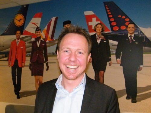Bastian Frantz, den nye chef for Lufthansa-gruppen i Danmark.