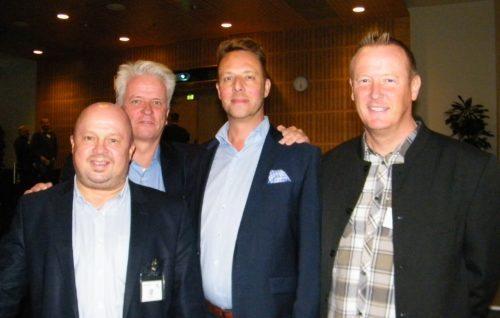 Fra sammenkomsten hos Gouda Rejseforsikring, fra venstre Peder Hornshøj, Lars Thykier, Dan Kjølhede Laursen og Ole Egholm.