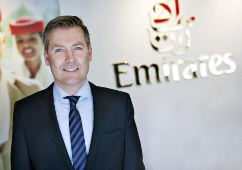 Morten Balk, landechef for Emirates i Danmark.